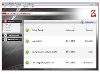 Avira personal antivirus