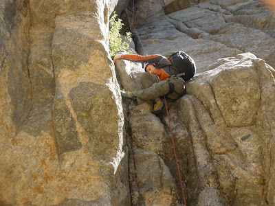 Benjamin Rubenstein rock-climbing in Nederland, CO