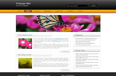 Free wordpress and cms templates free silver business black css free css black orange business website template wajeb Images