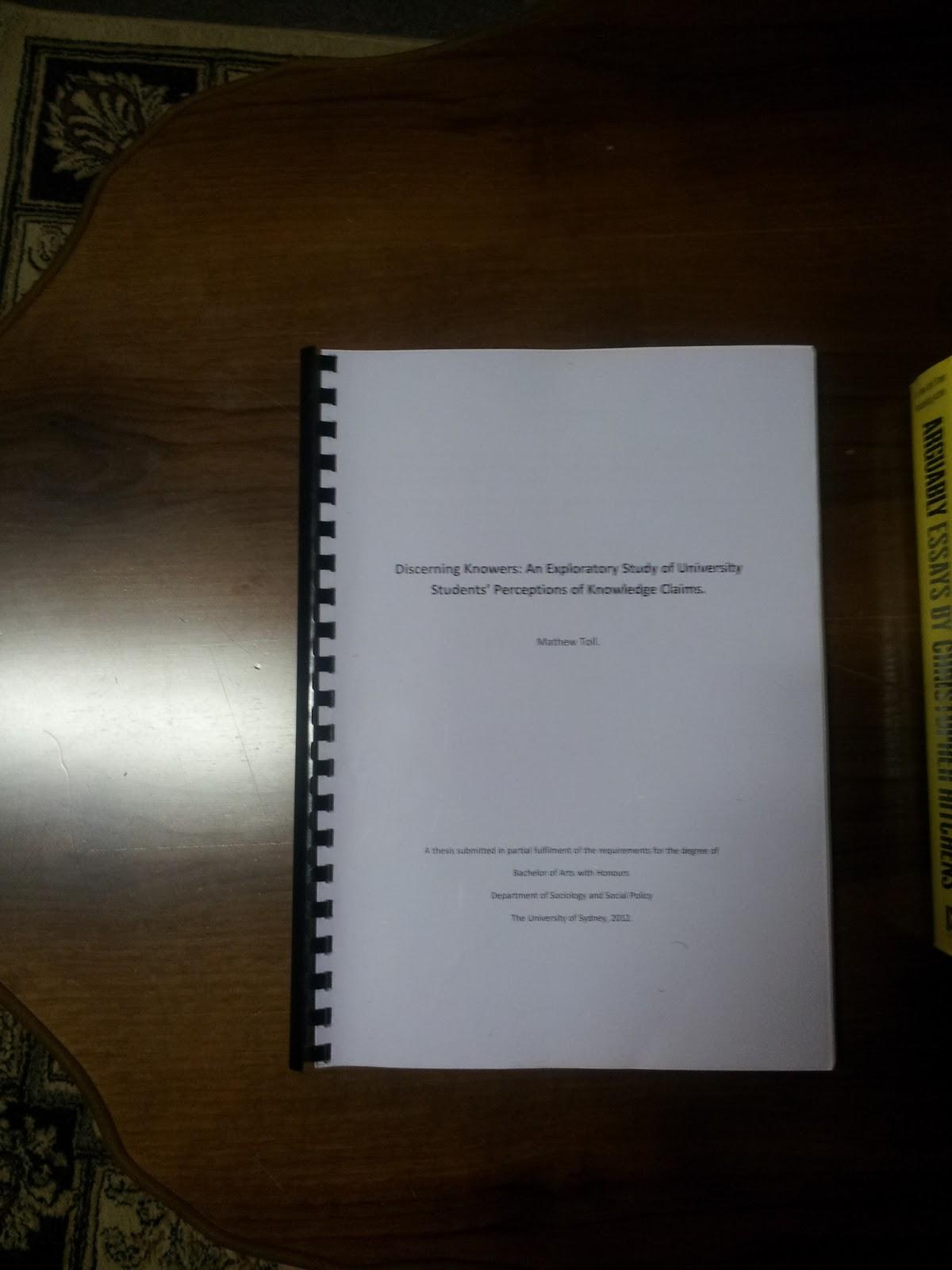 Communication honours dissertation