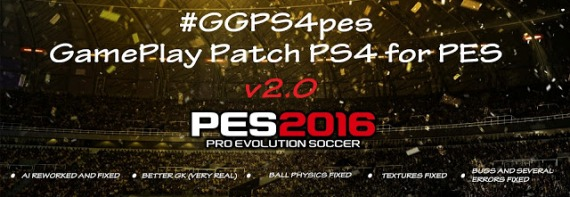 PS 4 Gameplay Patch V2.0 untuk PES 2016