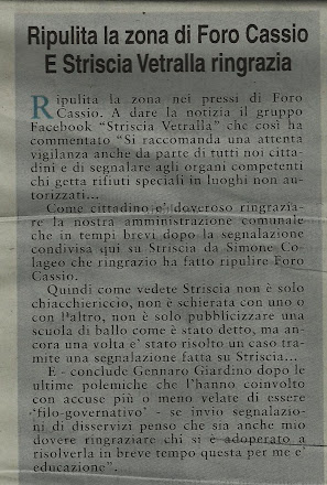 L'OPINIONE DI VITERBO DEL 14.01.2012