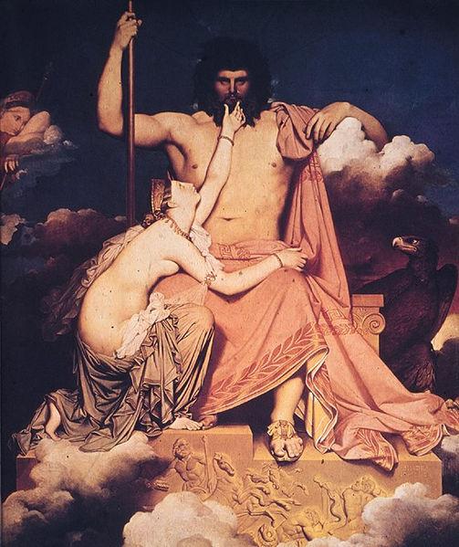 Júpiter y Tetis por Jean Auguste Dominique Ingres 1811