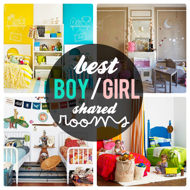 Pepper and buttons best boy girl shared room ideas for Shared boy and girl room ideas
