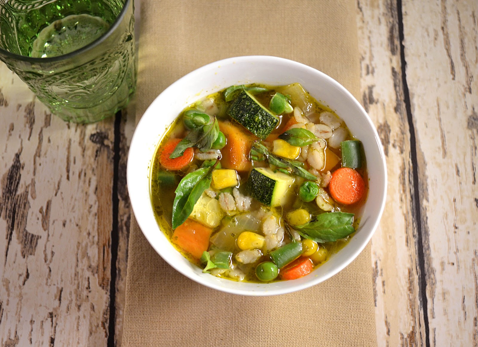 Jilly...Inspired : Vegetable Soup with Barley and Basil