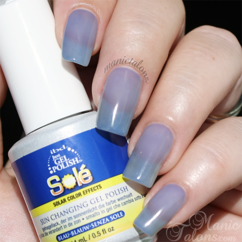 IBD Just Gel Polish Sole Blue Swatch in Sunlight