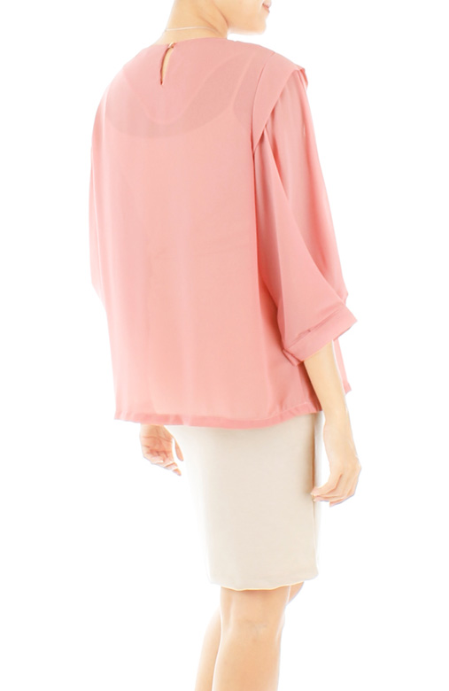 Piper Origami Sleeve Blouse – Rose Pink