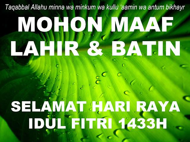 Jawa Pos Iklan - Selamat Idul Fitri 1433 Hijriah