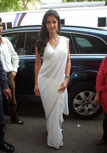 Katrina Kaif in a White Saree like a Angel, Casual Sarees for Women