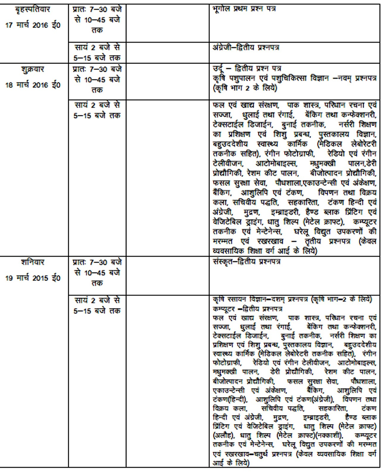 Up board date sheet 2016 download class 12th 10th exam for 10th time table 2016