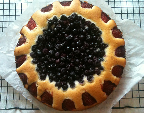 Dairy Free Strawberry and Blueberry Cake