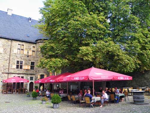 Das Restaurant im Hof von Haus Kemnade