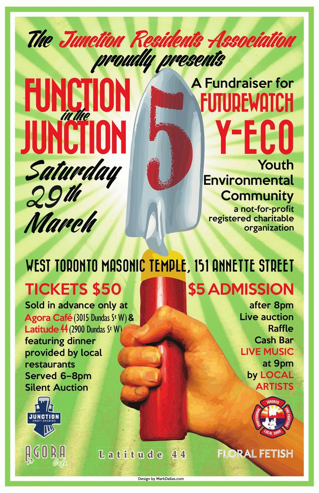 Function in the Junction - fundraiser for FutureWatch,   Saturday, March 29, 2014, West Toronto Masonic Temple, Toronto