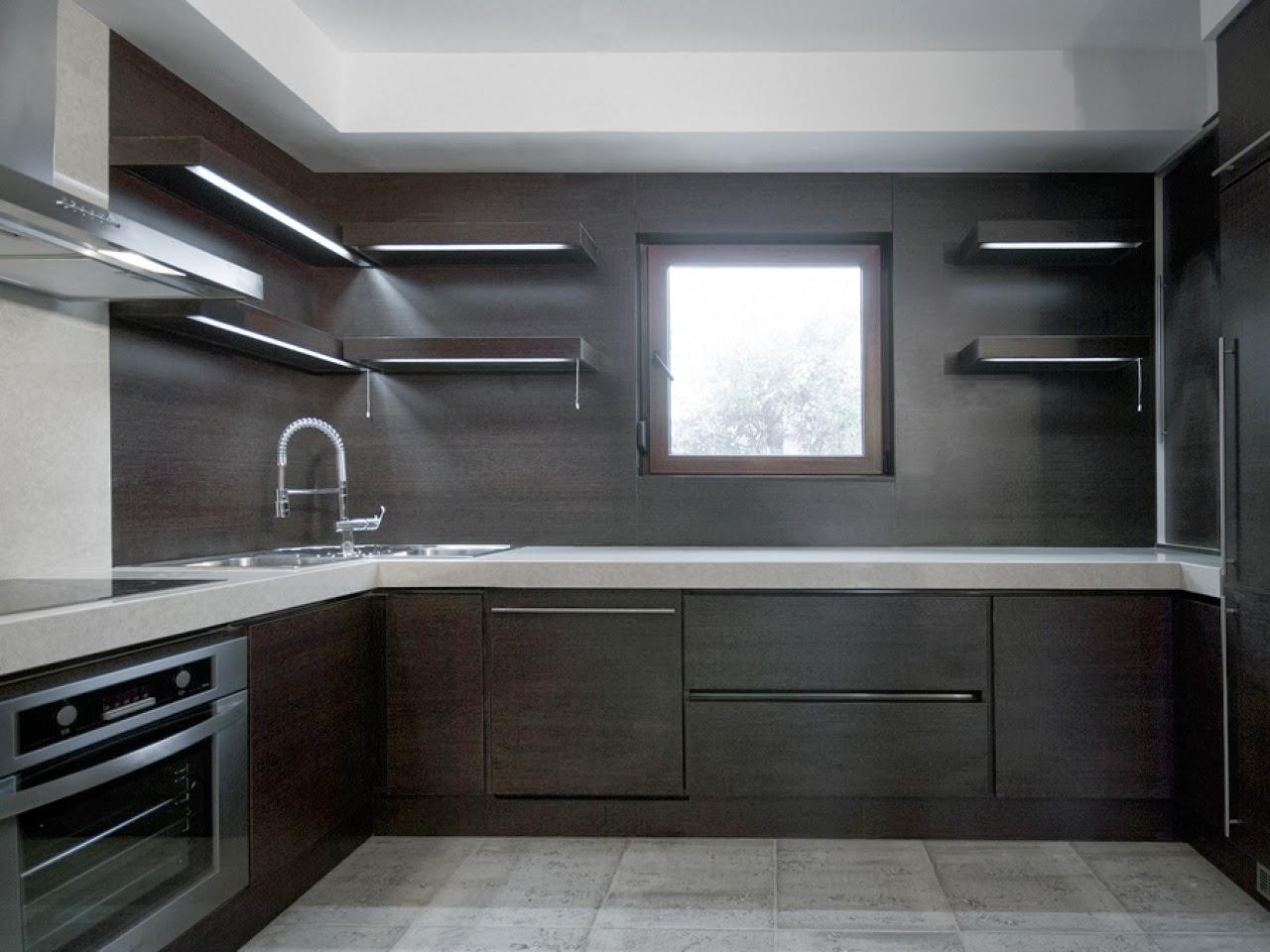 Decoracion y tendencias modernas cocinas con dise os oscuros for Ideas de gabinetes de cocina
