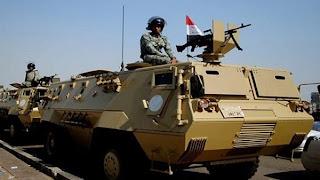 """الجيش المصري يبدا عملية """"عاصفة الصحراء"""" في سيناء للقضاء علي البؤر الارهابية"""