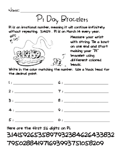 Stupendous image intended for pi day worksheets printable