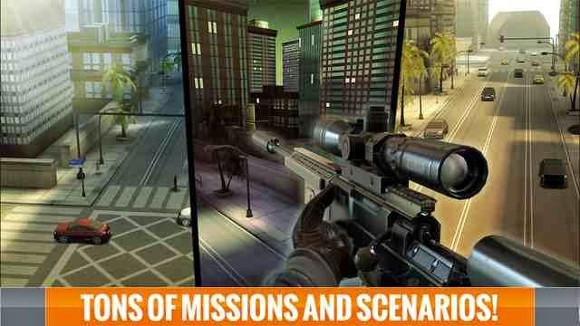 تحميل لعبة إطلاق النار والقناصة الأعلي تصنفياً للأيفون والايباد والايبود مجاناً Sniper 3D Assassin iOS