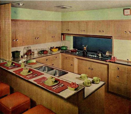 Inspirations 1950 39 s kitchens for 50s kitchen ideas