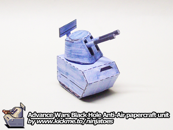 Advance Wars Anti-Air Tank Papercraft
