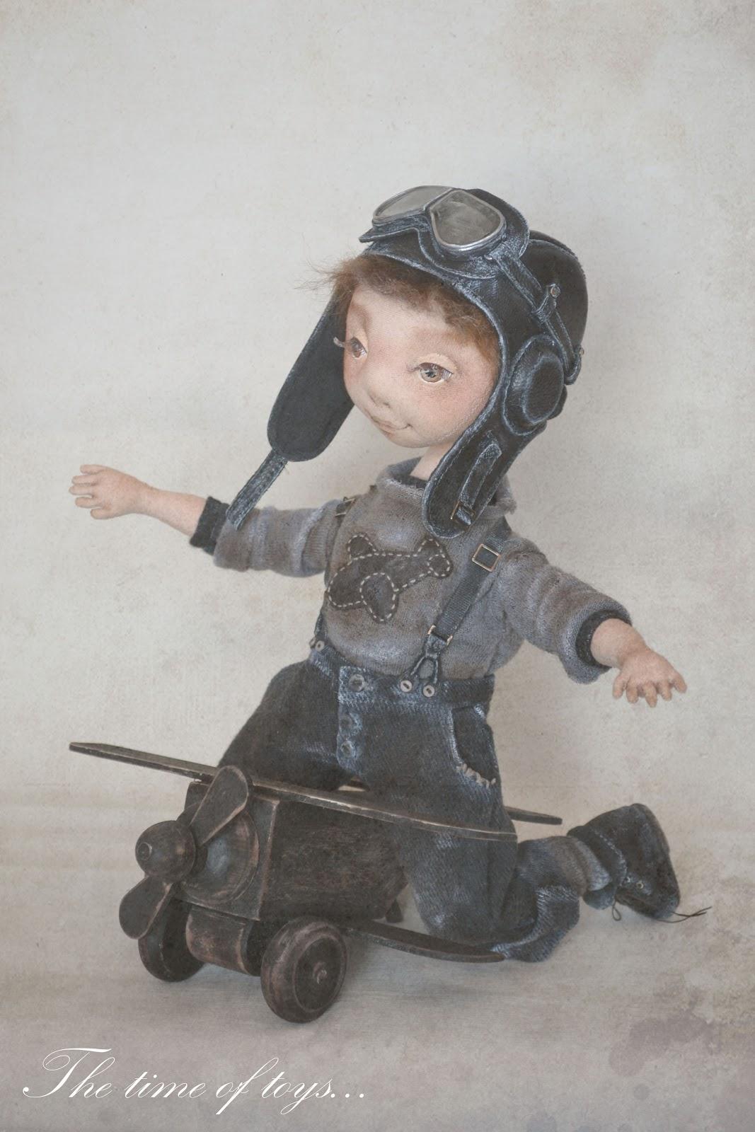 Кукла летчик авиатор своими руками