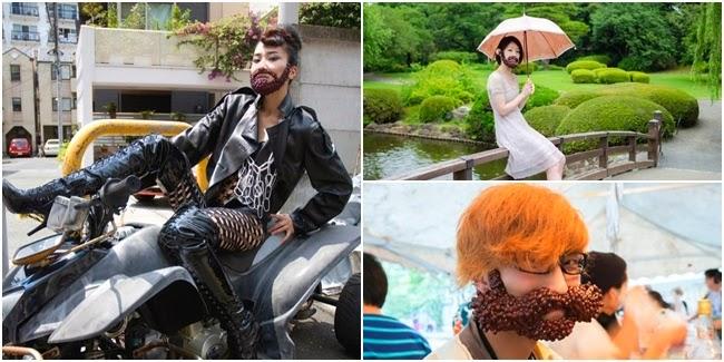 Gokilnya Tren Foto Jenggot Ala Orang Jepang