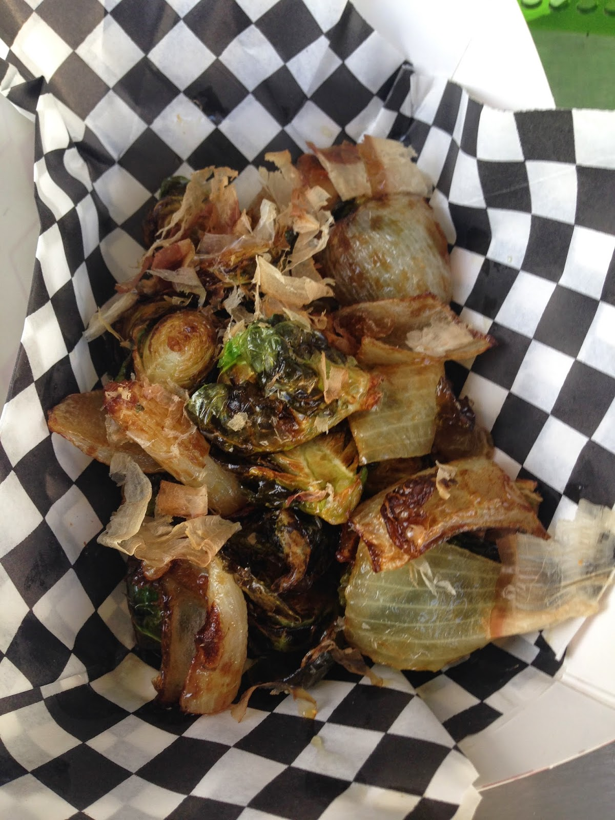 Wokker Texas Ranger Food Truck Bonito Brussels Sprouts
