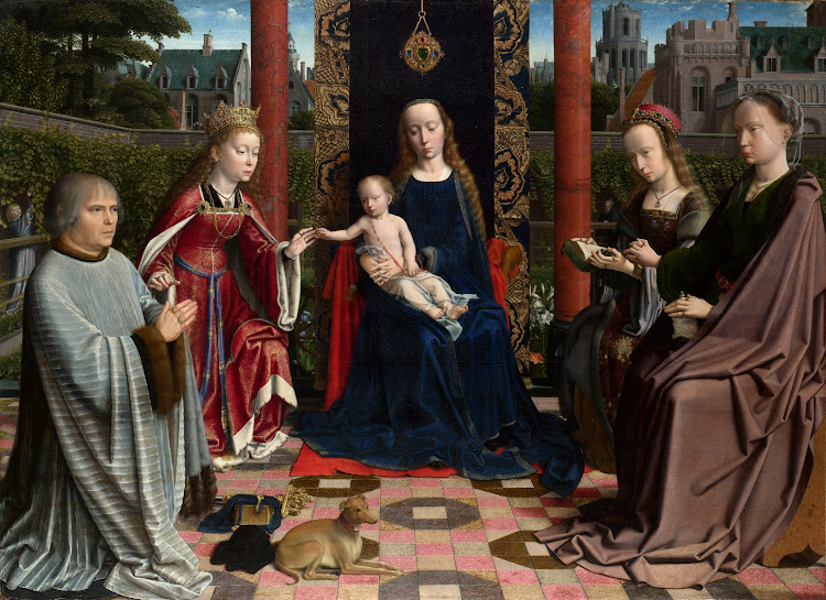 Gerard David - The Virgin and Child with Saints and Donor (1510)