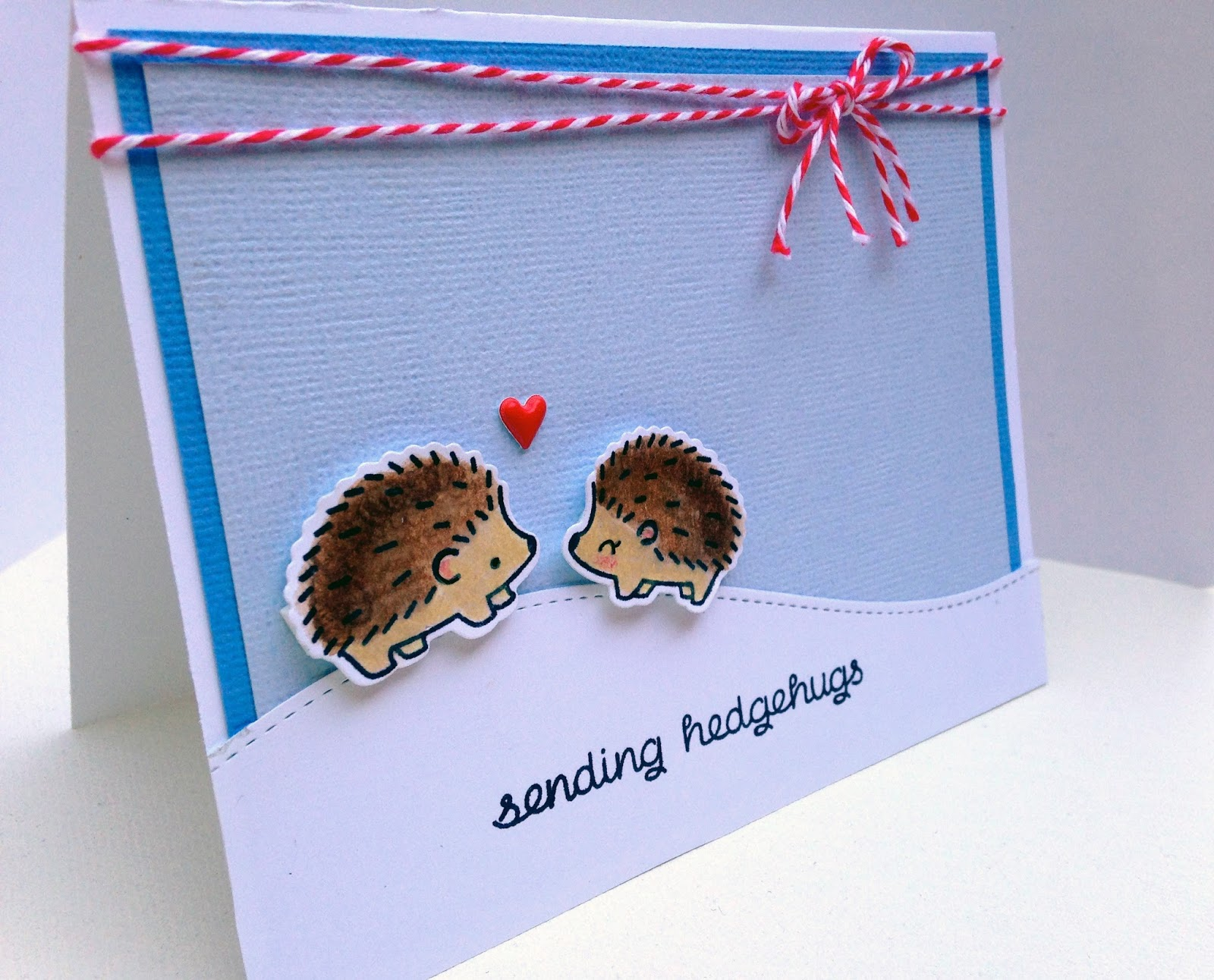 Lawn Fawn Hedgehugs Card @craftsavvy @lawnfawn #craftwarehouse #lawnfawn #card #diy