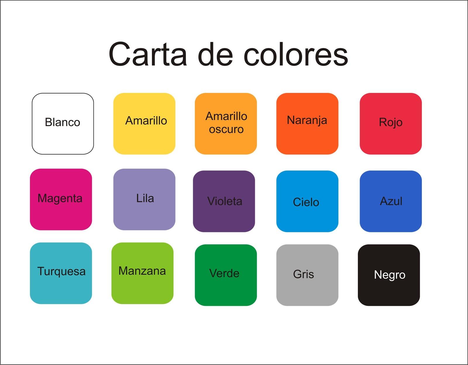 Interiormente vinilos decorativos carta de colores for De colores de colores