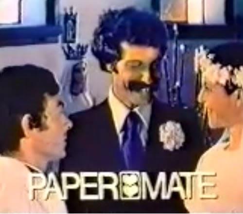 Propaganda das canetas Papermate veiculada no final dos anos 70.