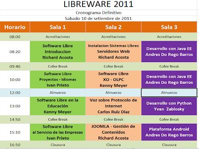 Imagen del programa de LibreWare 2011