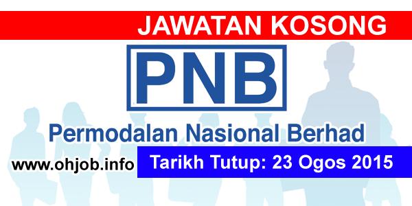 Jawatan Kerja Kosong Perbadanan Nasional Berhad (PNB) logo www.ohjob.info ogos 2015
