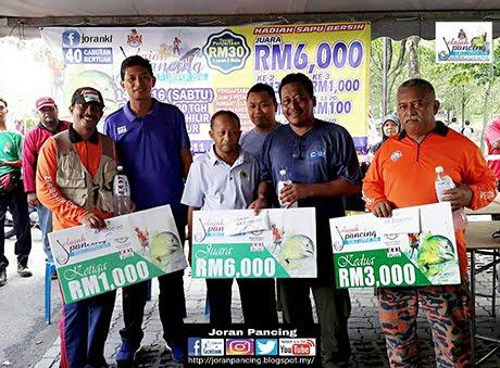 Wajah Pemenang Jelajah Pancing Kuala Lumpur di Tasik Ampang Hilir 14 Mei 2016