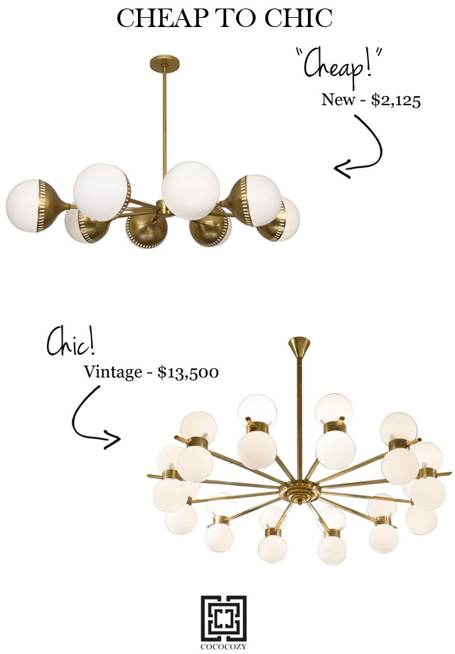 Cheap to chic brass chandeliers