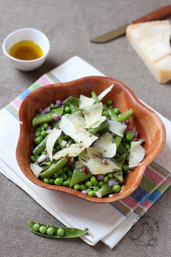 salatka z groszku i zielonej fasolki
