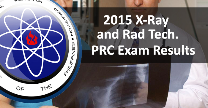 Top 7 Placers of July 2015 X-Ray Tech PRC Board Examination