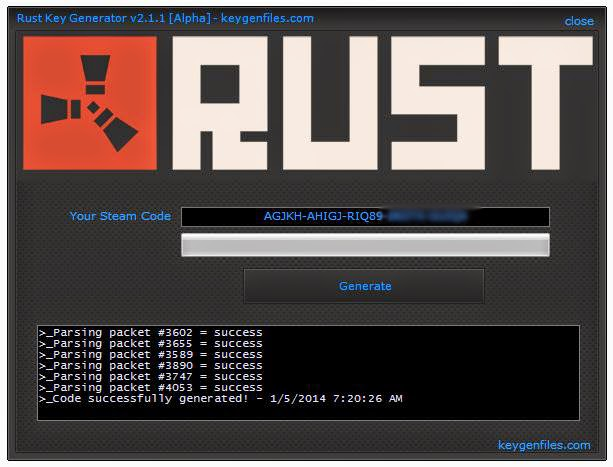 rust key generator v2 1 1 alpha free steam code for rust i share