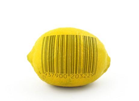 φρούτα με barcodes