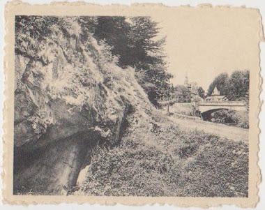 gezicht op Rochefort vanuit de ingang
