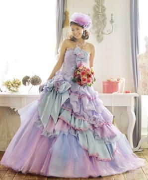 I heart wedding dress purple pastel wedding dress for Pastel color dress for wedding