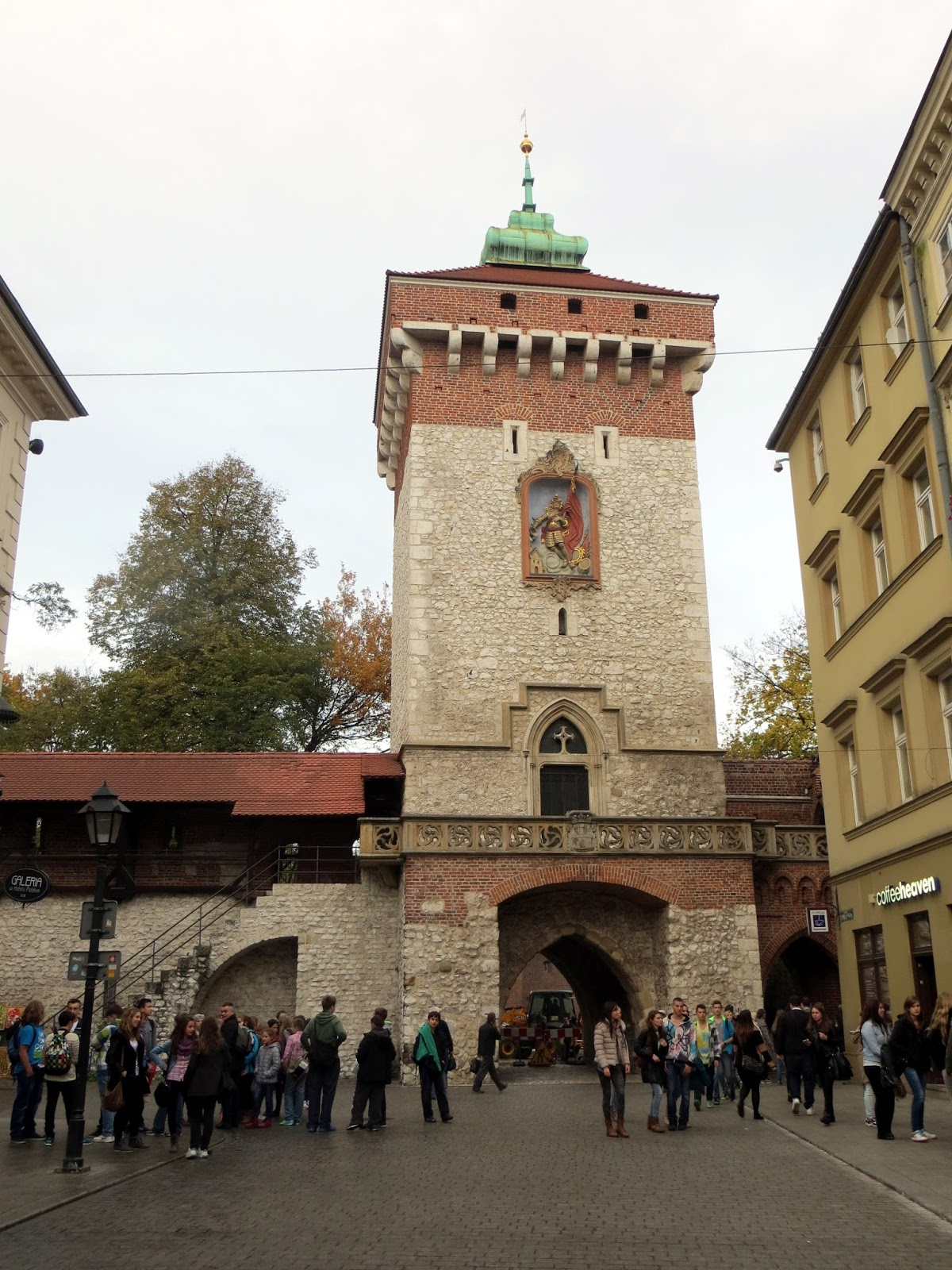 Krakow, old town, rynek, gate, old wall, city, poland,