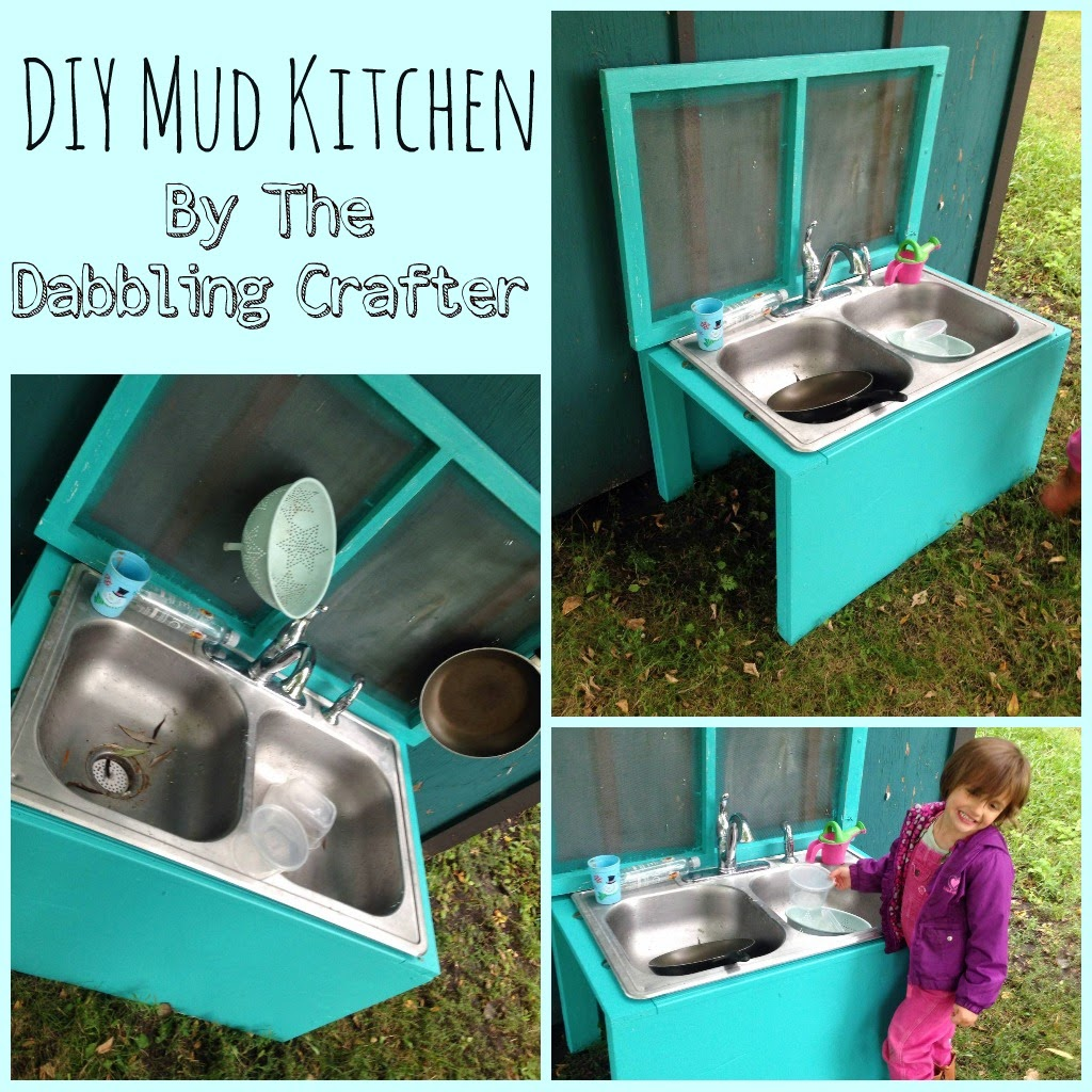 The Dabbling Crafter: DIY Sunday: Outdoor Mud Kitchen