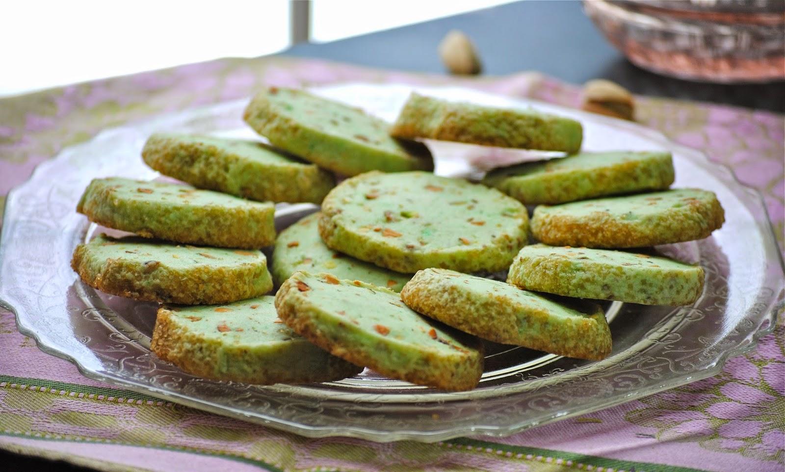 pistachio sables