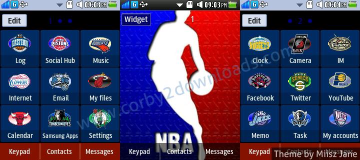 Download Tema Samsung Corby 2 NBA Pada Link Di Bawah Ini