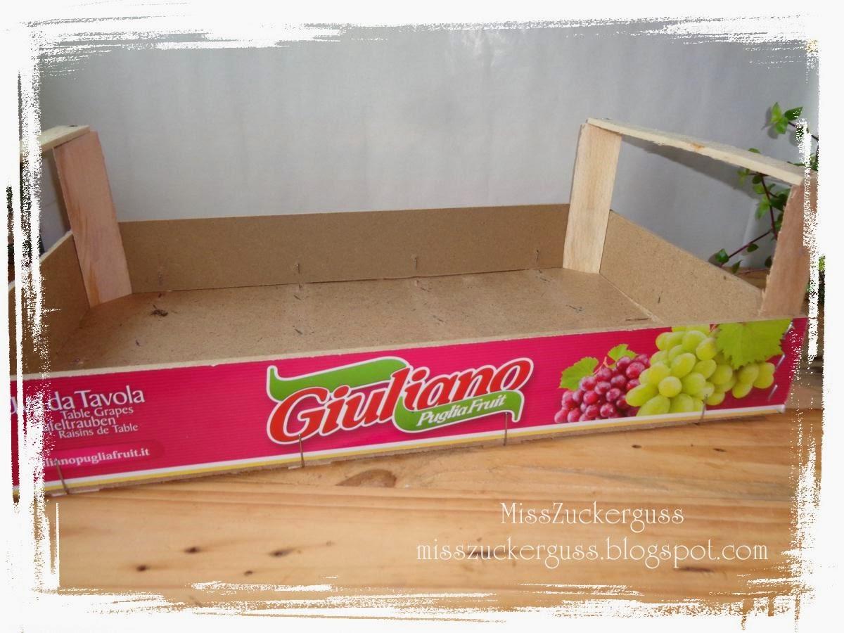 Recycling gestalten k chentablett aus einer obstkiste - Obstkisten gestalten ...