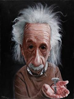 Caricatura do Albert Einstein