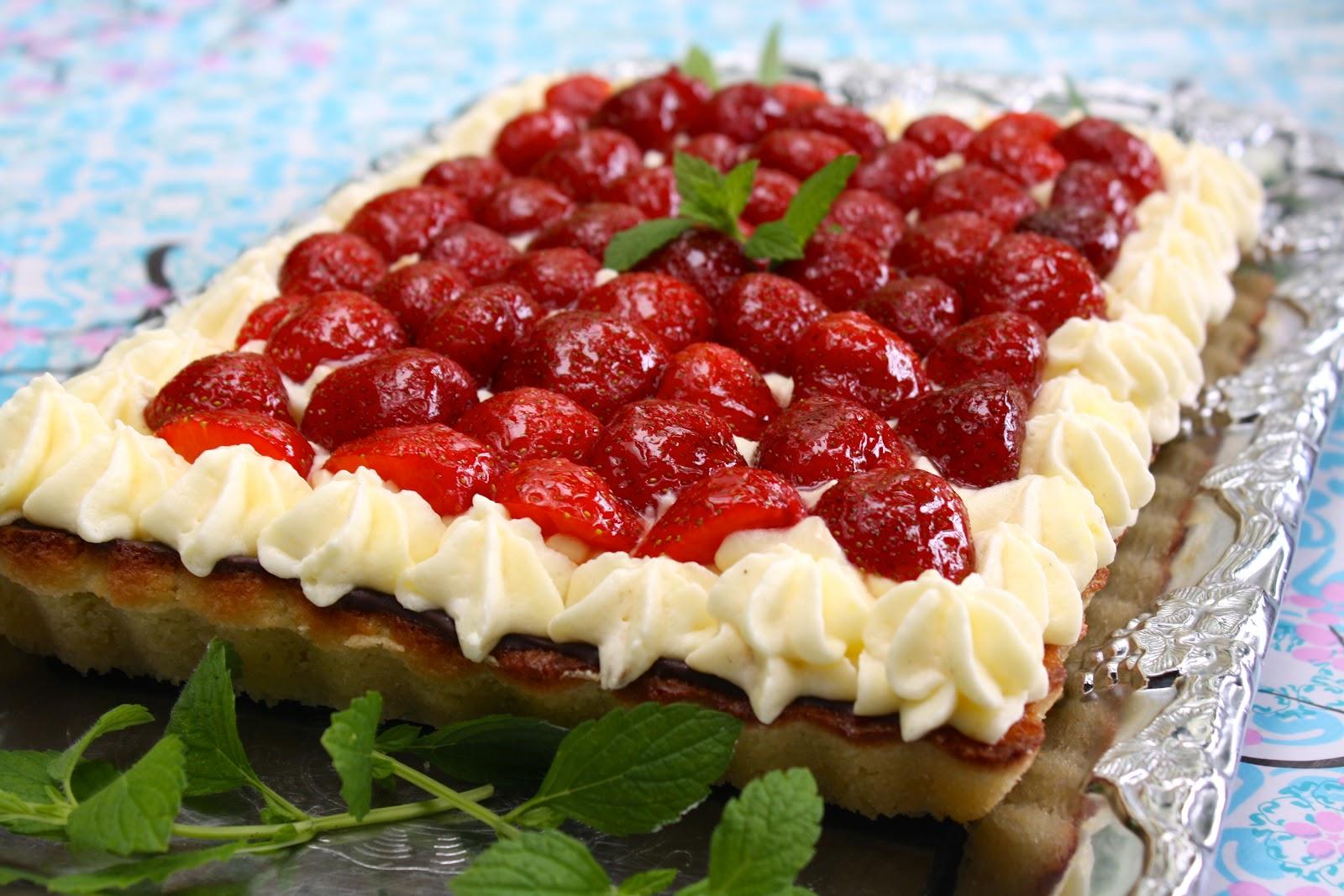 Alletiders Kogebog Jordbærtærte jordbærkage opskrift