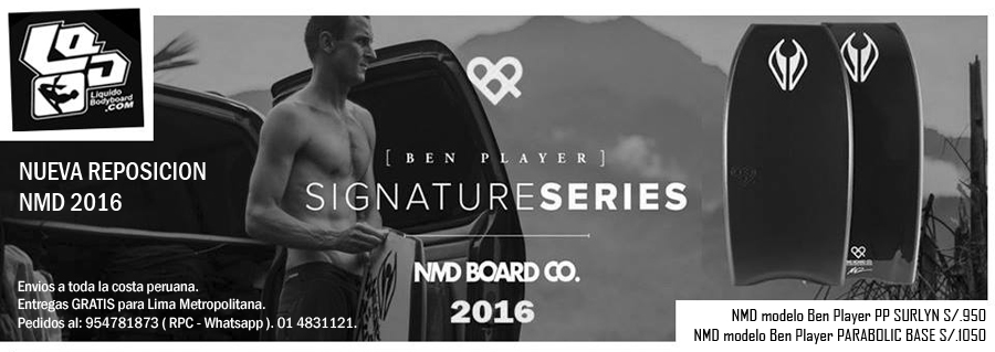 NMD  BODYBOARDS 2016 PERÚ