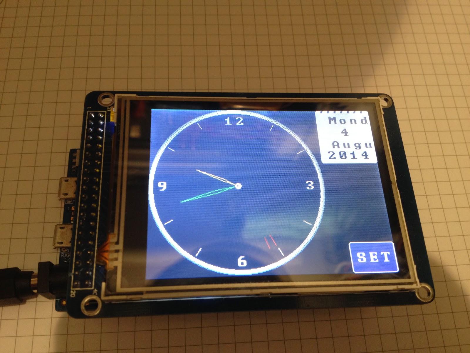 Thd arduino projekte due tft analog uhr