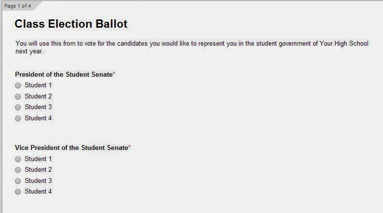For Pete's Sake...: Simplify School Elections with Google Forms ...
